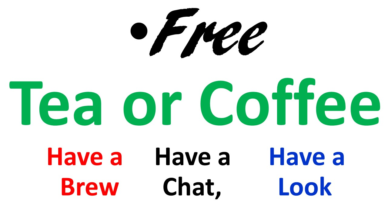 Free Tea Or Coffee Offer For Anyone Passing By Hope Charity At House 35 Acregate Little Digmoor