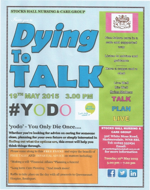 , Dying Matters Awareness Week 18-24 May 2014, Skem News - The Top Source for Skelmersdale News