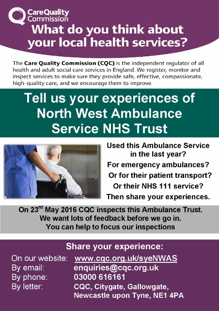 20160401 NW Amb Service NHS Trust Inspect 23.05.16 - SYE poster Final-page -001 (452x640)