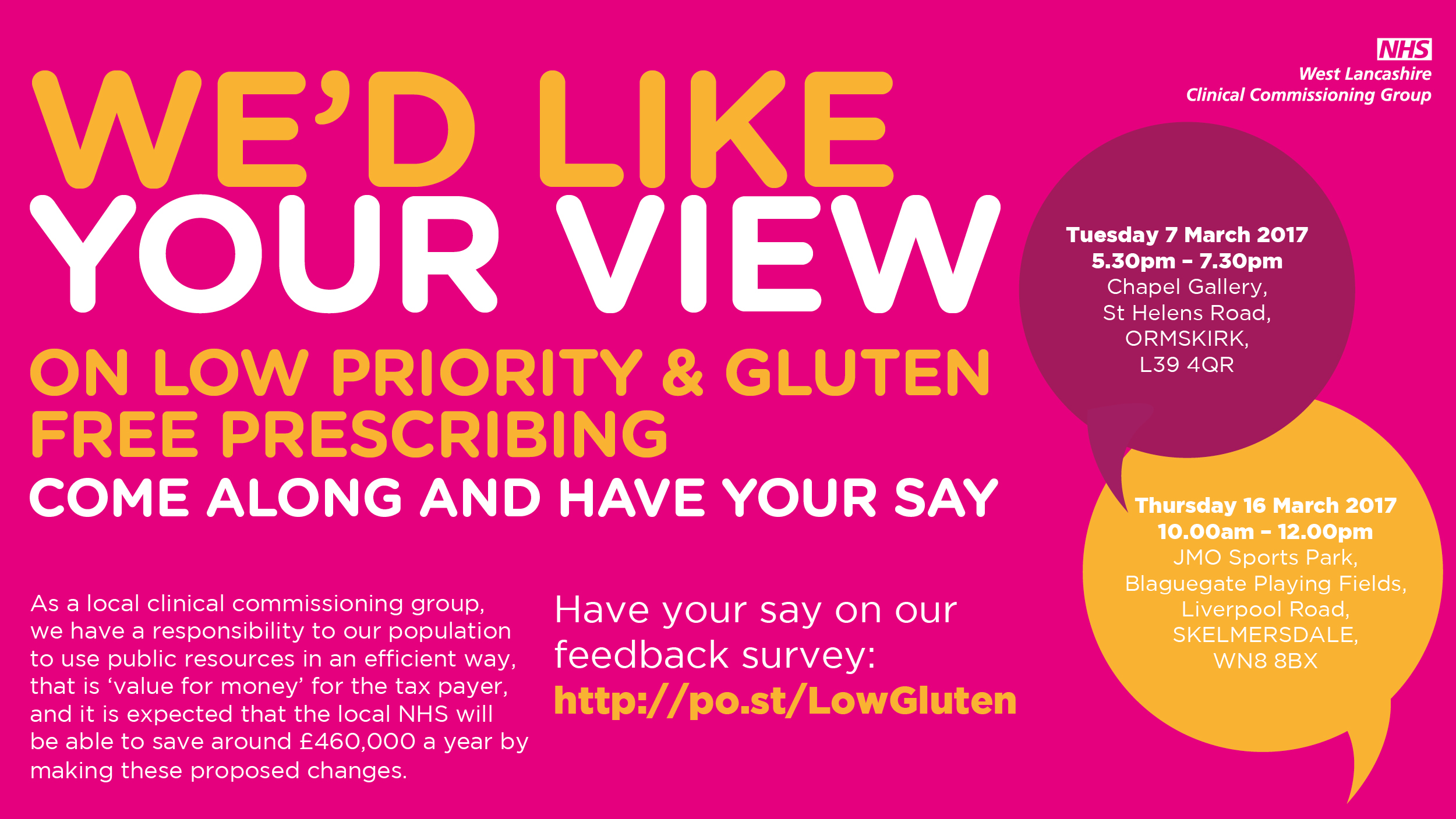 , Residents encouraged to have their say about low priority & gluten free prescribing at public events, Skem News - The Top Source for Skelmersdale News