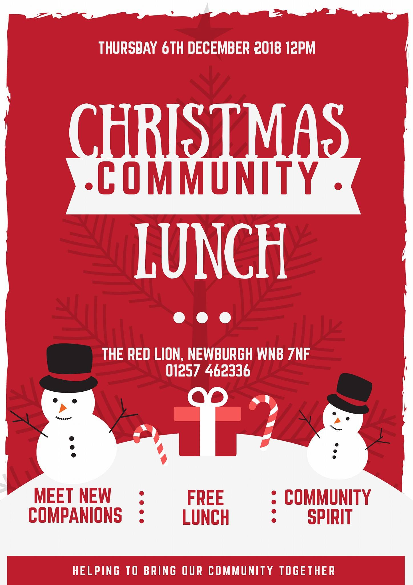 , Red Lion Hotel, Newburgh, Christmas Community Lunch, Skem News - The Top Source for Skelmersdale News