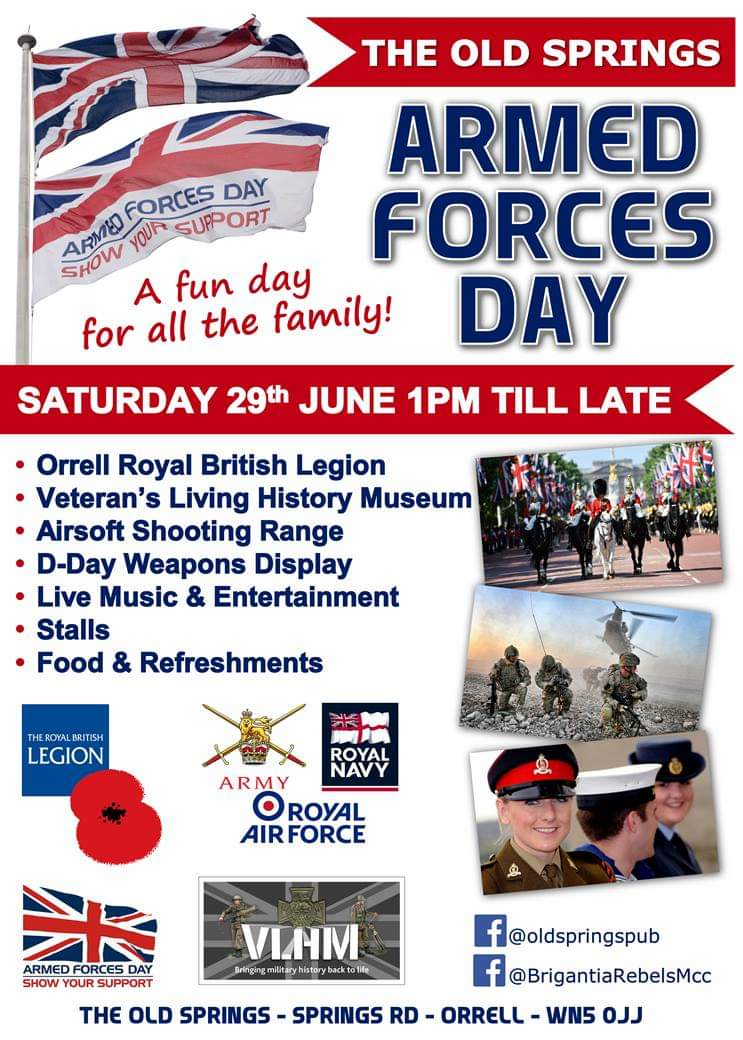 , Armed Forces Day event at Old Springs Pub Orrell, Skem News - The Top Source for Skelmersdale News