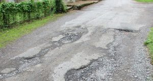 pothole damage road