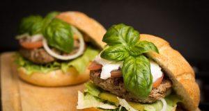 hamburger food meal