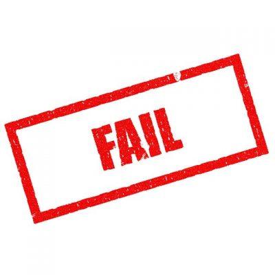 fail failing