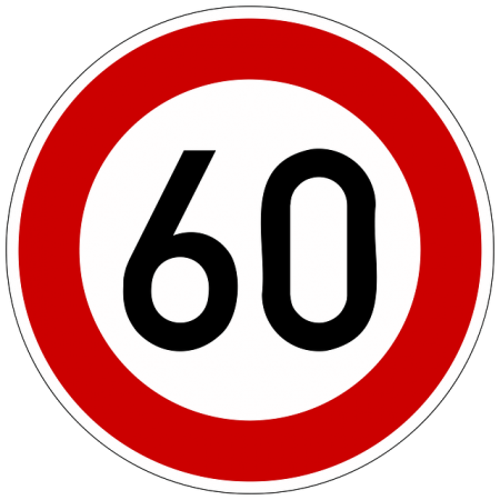 road sign speed