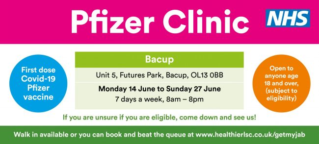 Pfizer Clinic Bacup