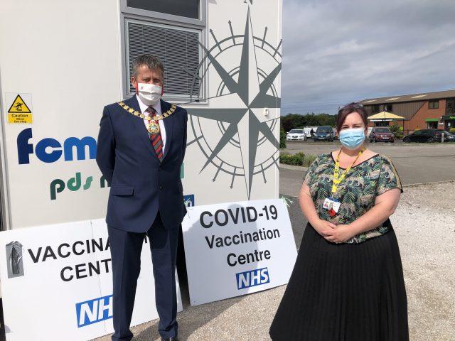 Mayor of West Lancashire, Councillor Gordon Johnson, & Emma Robinson