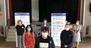 Vaccination team at Hesketh Bank