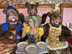 Goldilocks with three bears - credit David Munn
